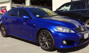 Blue Lexus with quality window tint resized