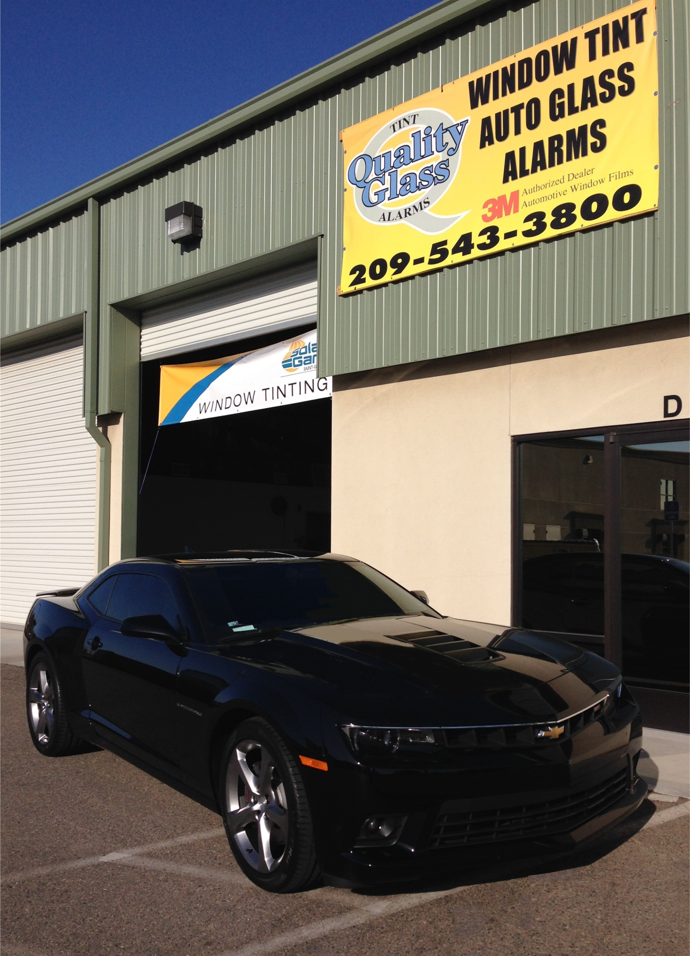 3M window film on black Chevy Charger car
