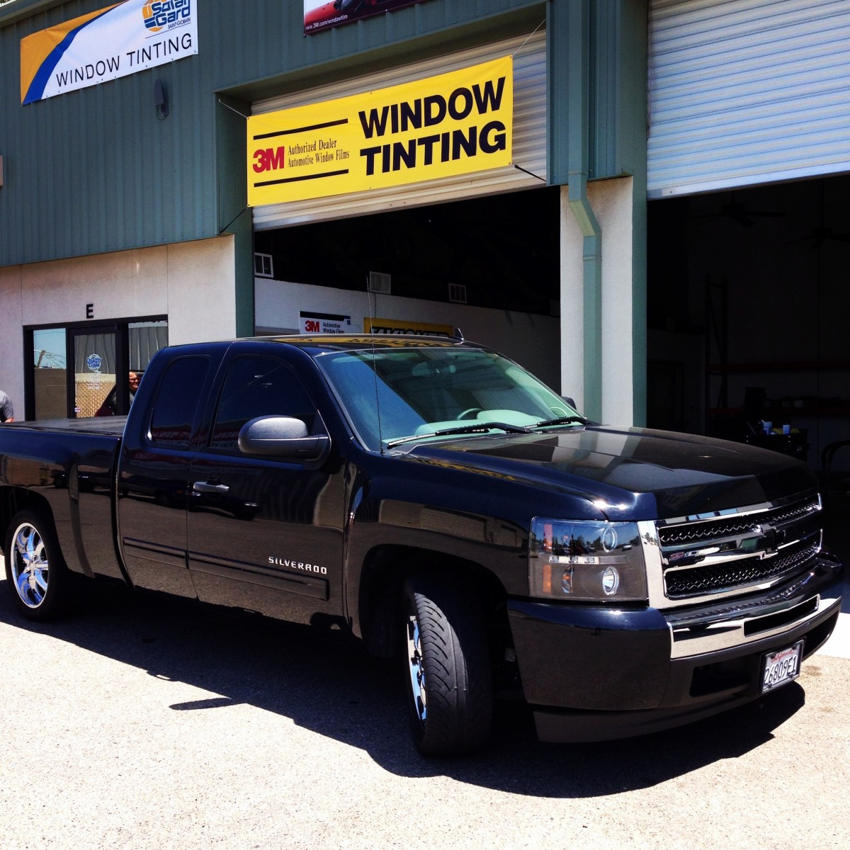 Chevy truck with tinted windows